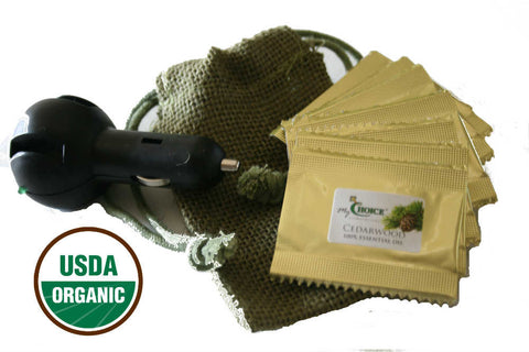 organic cedarwood car air freshener - essential oil