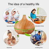 NEW! Wooden Multi-Color LED Essential Oil Diffuser & Mist Maker for Home/Office - myChoice Aromatherapy