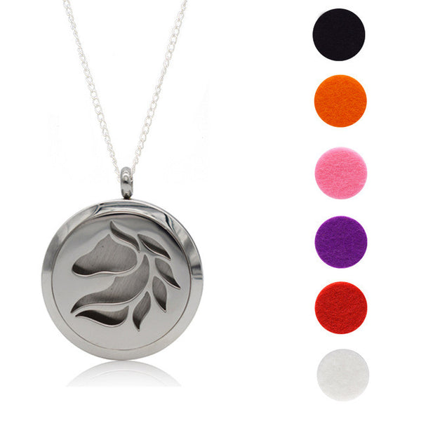 The Horse - Solid Stainless Steel Essential Oil Diffuser Necklace - myChoice Aromatherapy