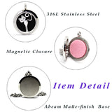 The Cat - Stainless Steel Essential Oil Aromatherapy Diffuser Necklace Pendant & 6 Reusable Colored Felt Pads