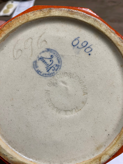 Antique Czech bowl j Mrazek 696 bottom