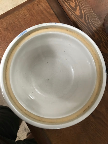 Blue Ribbon Brand Buckeye Pottery Bowl inside