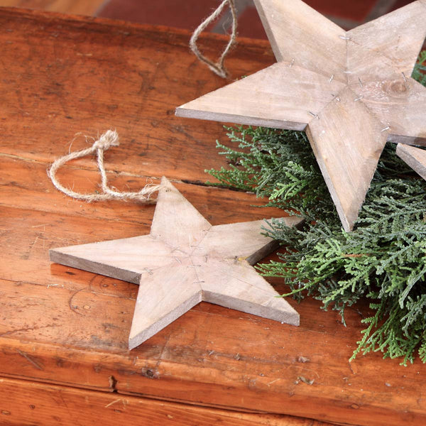 Reclaimed wood star ornament-Large