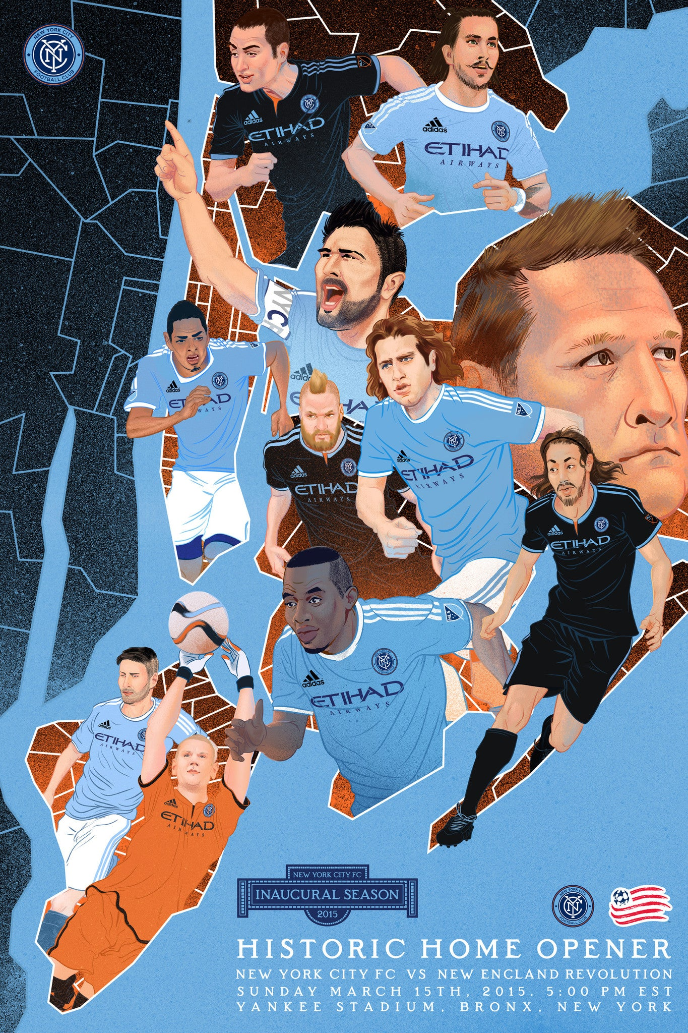 NYCFC Match Day Posters