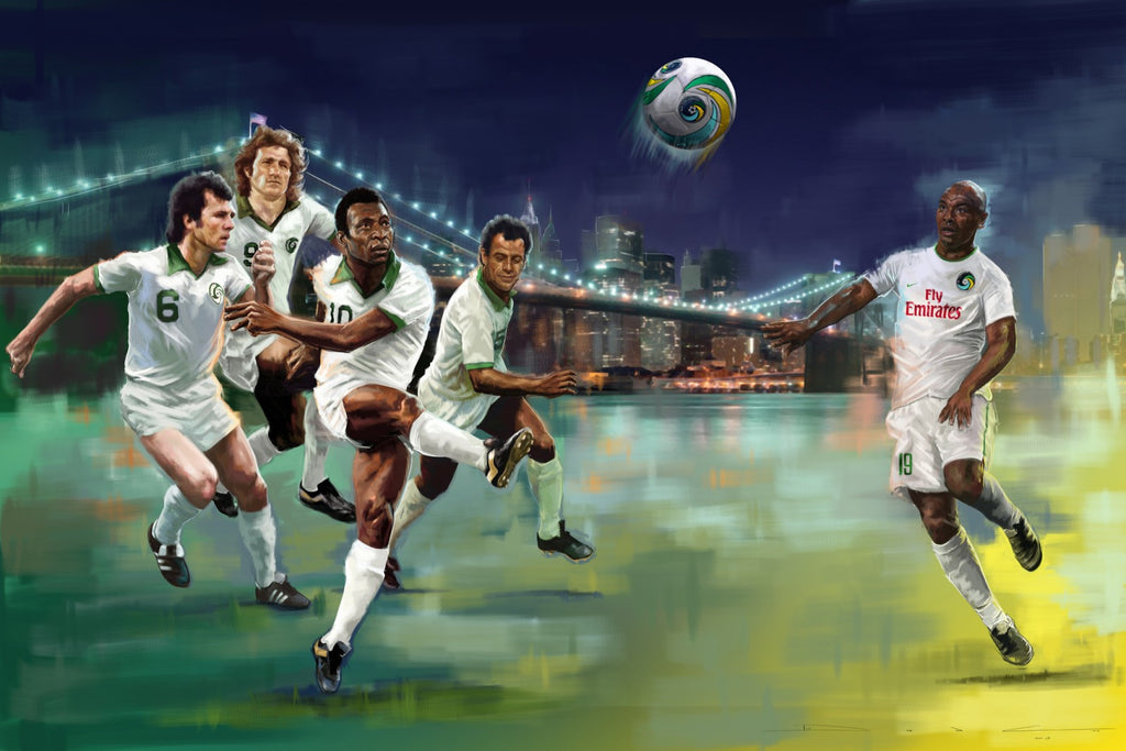 New York Cosmos Limited Edition Signed and Numbered by Pele