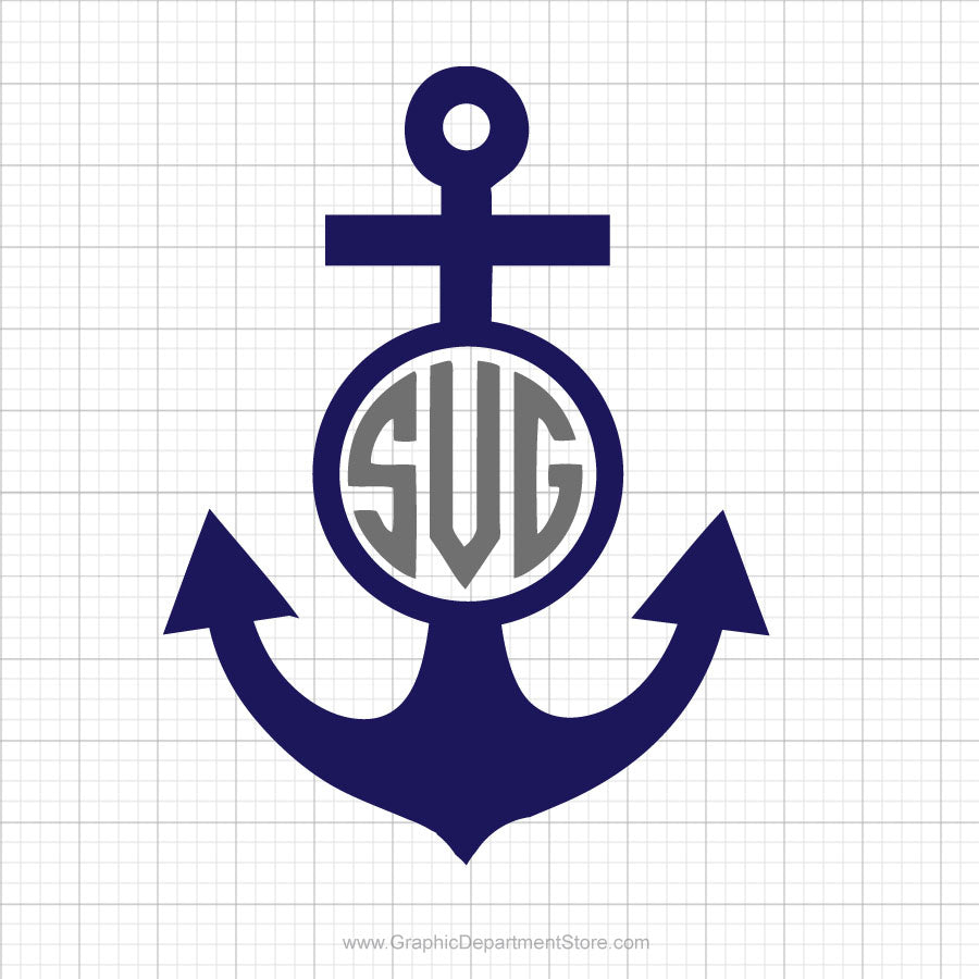 Anchor Monogram Svg Clipart