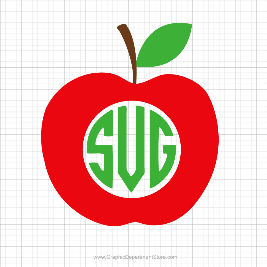 Apple Monogram Svg Clipart