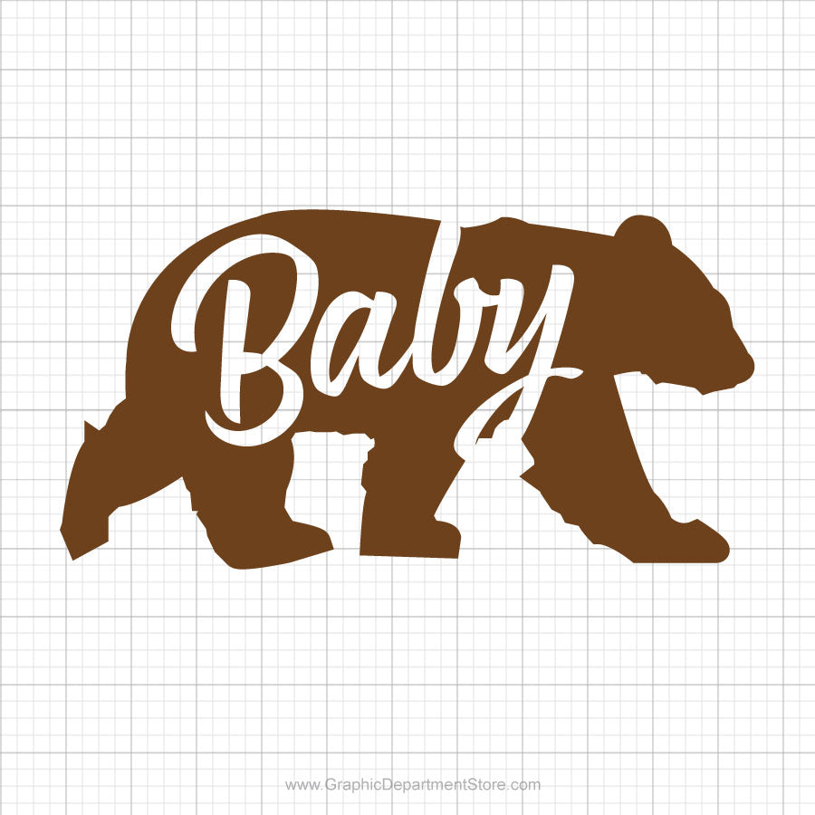 Baby Bear Free Svg Saying