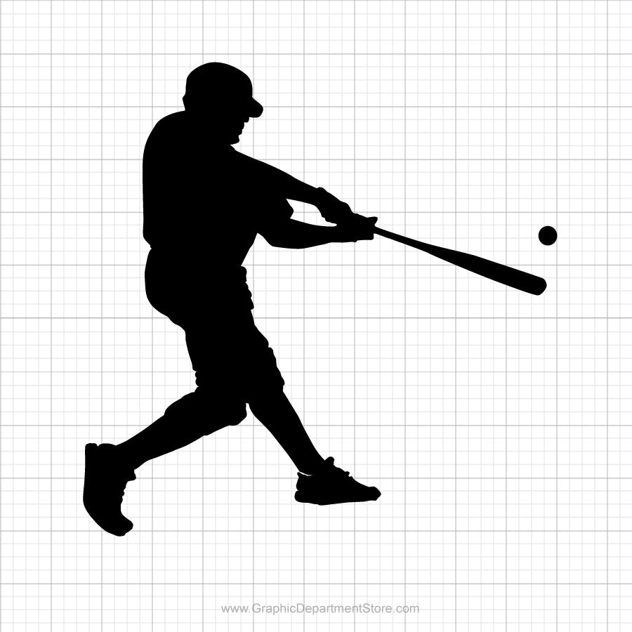 Baseball Player Free Svg Clipart