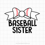 Baseball Sister Svg Saying