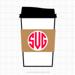 Coffee Cup Monogram Free Svg Clipart