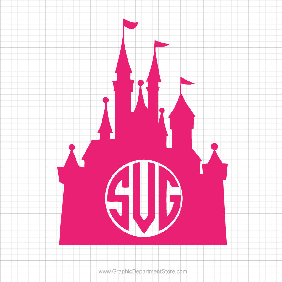 Disney Castle Monogram Svg Clipart