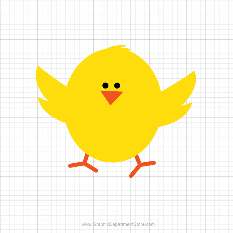 Easter Chick Free Svg Clipart