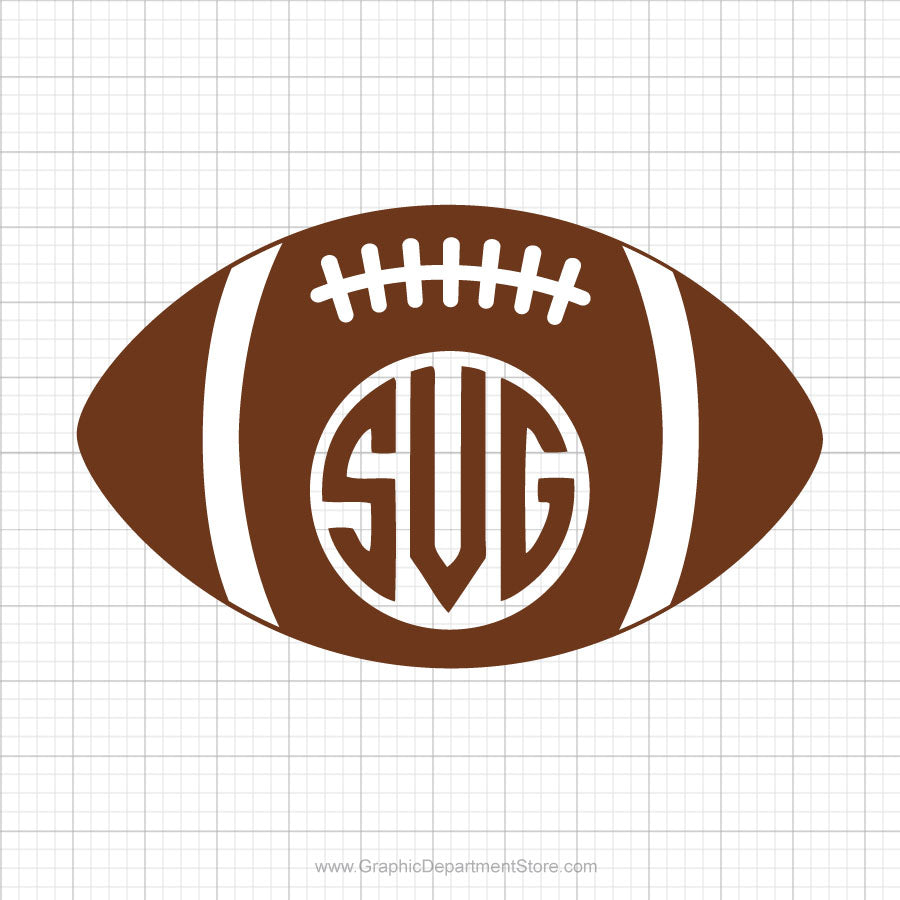 Football Monogram Svg Clipart