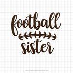 Football Sister Svg Saying