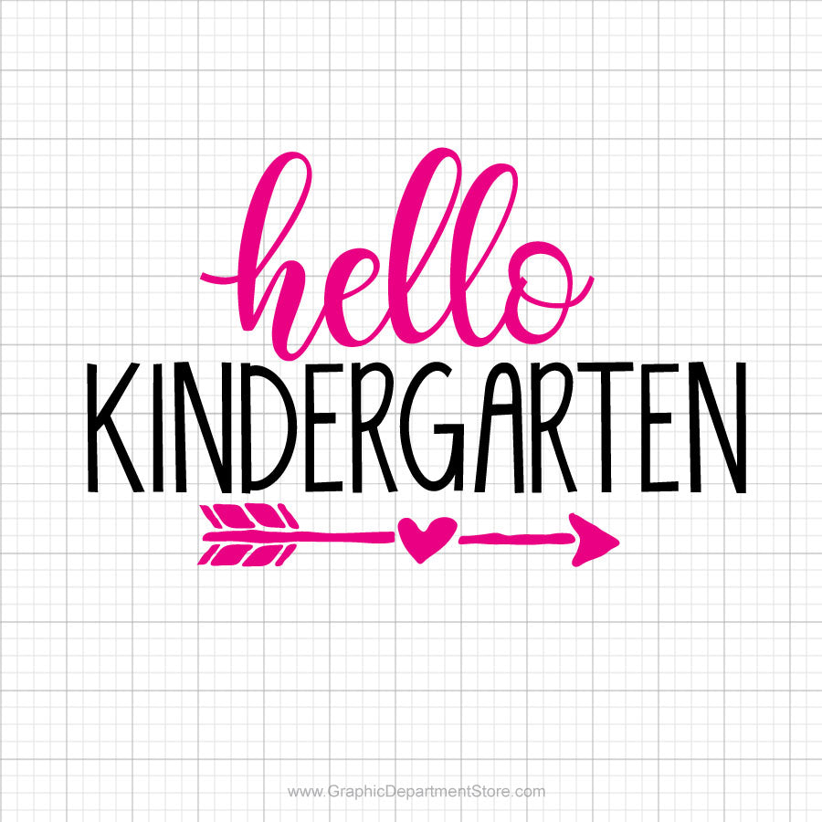 Hello Kindergarten Svg Saying
