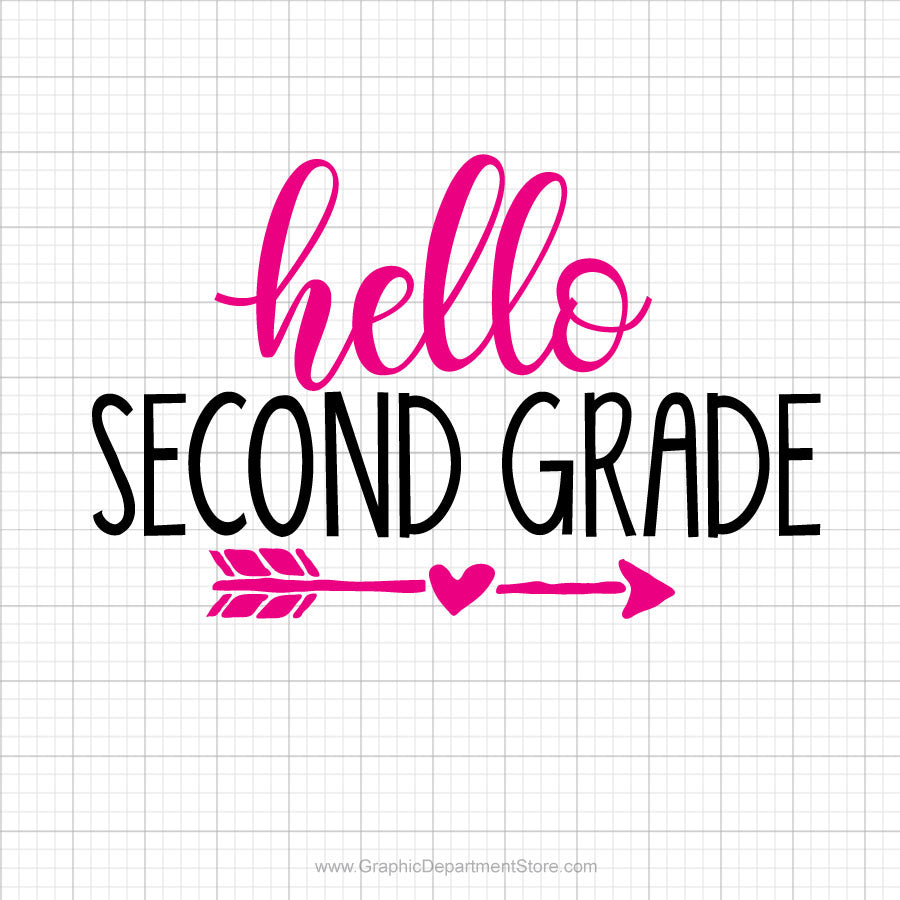 Hello Second Grade Svg Saying
