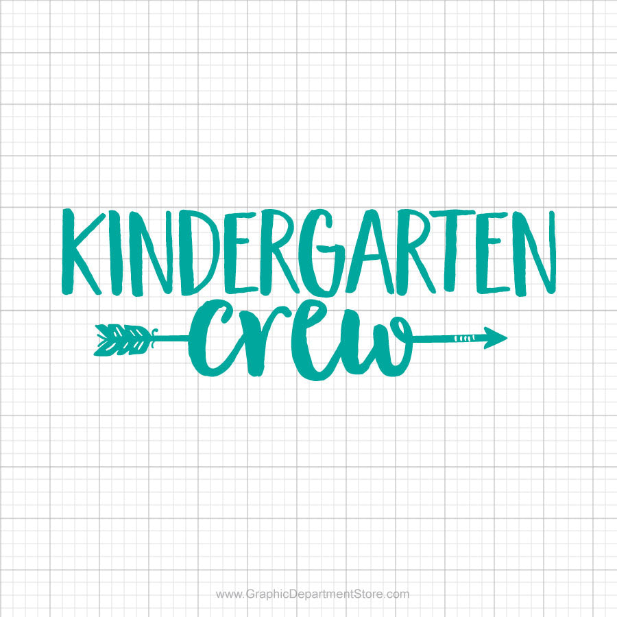 Kindergarten Crew Svg Saying