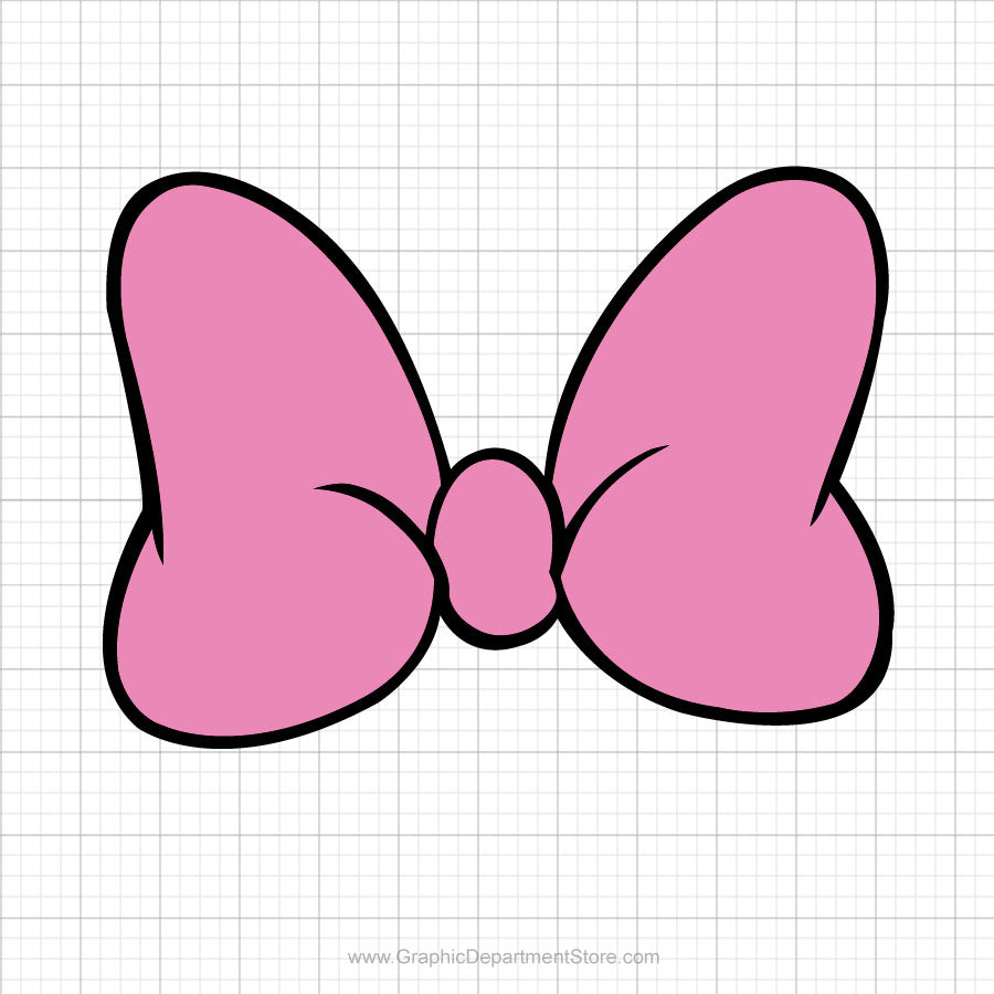 Minnie Mouse Pink Bow Svg Clipart