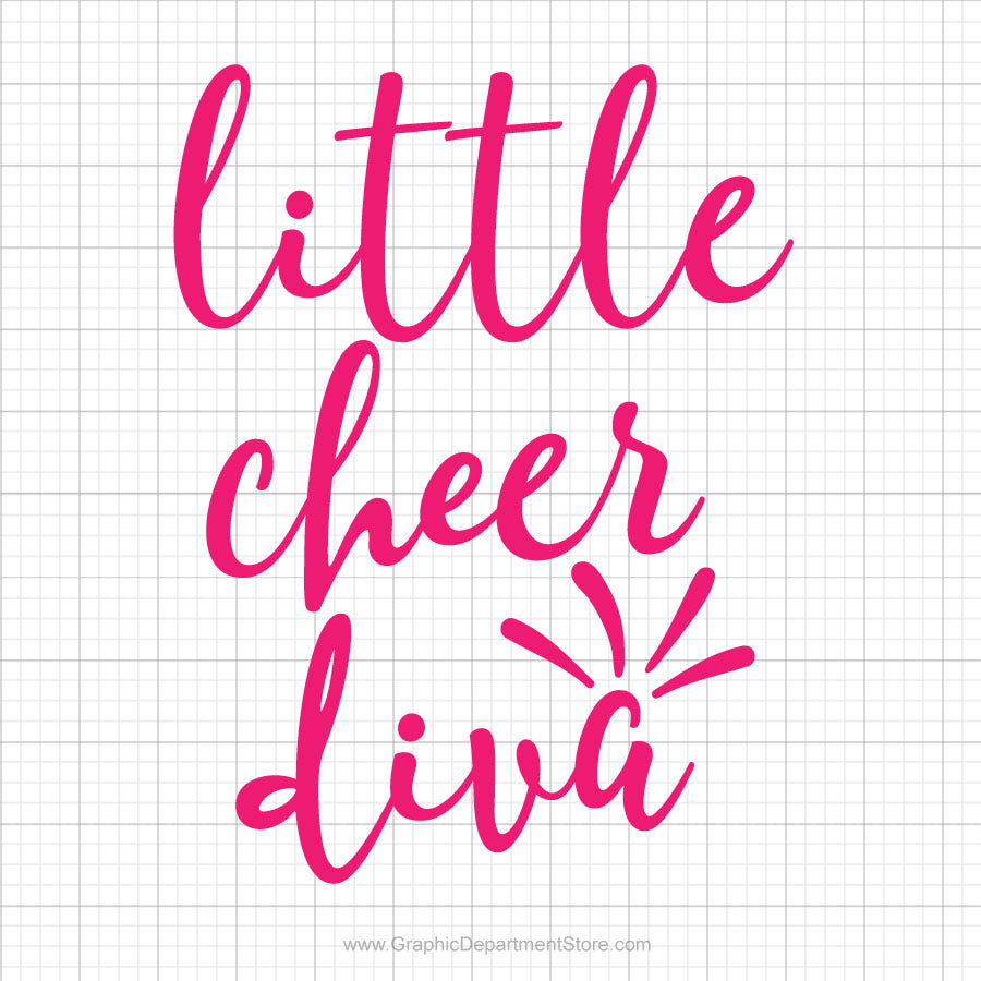 Little Cheer Diva Svg Saying
