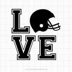 Love Football Svg Saying
