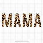 Mama Leopard Print Svg Saying