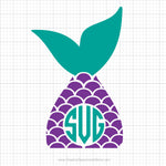 Mermaid Tail Monogram Svg Clipart