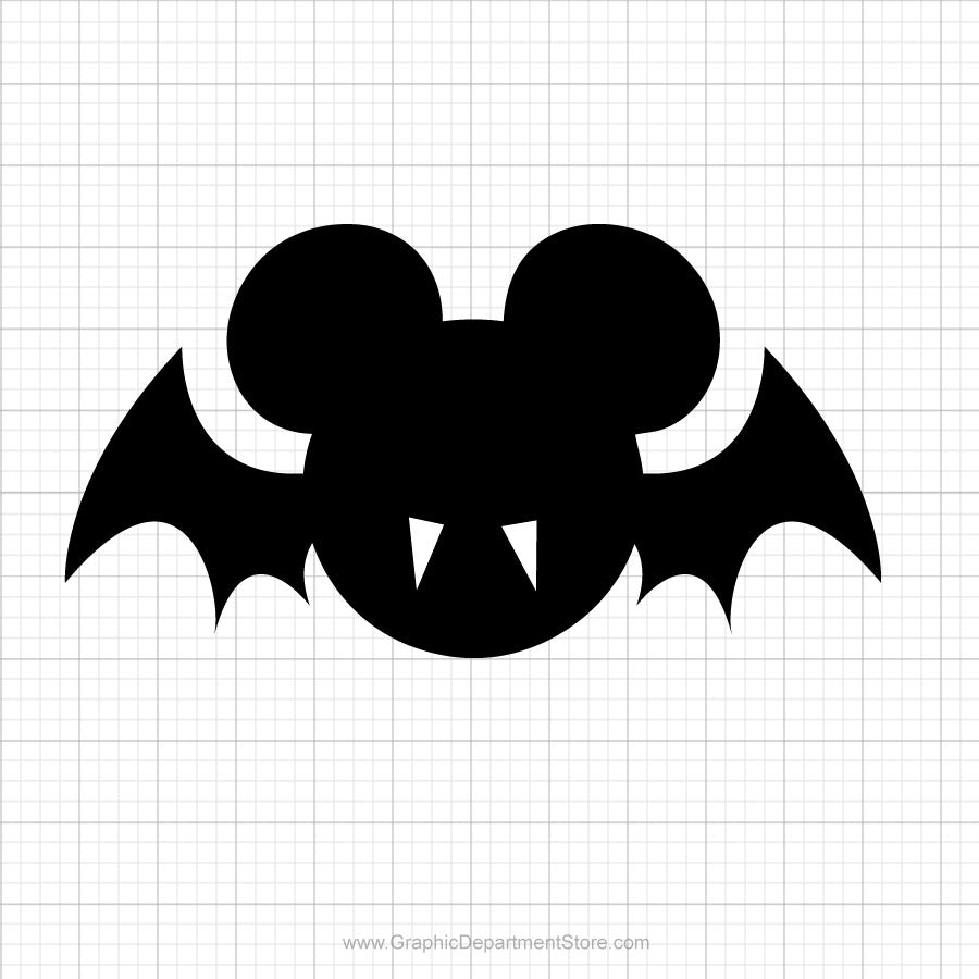 Mickey Mouse Bat Head Svg Clipart