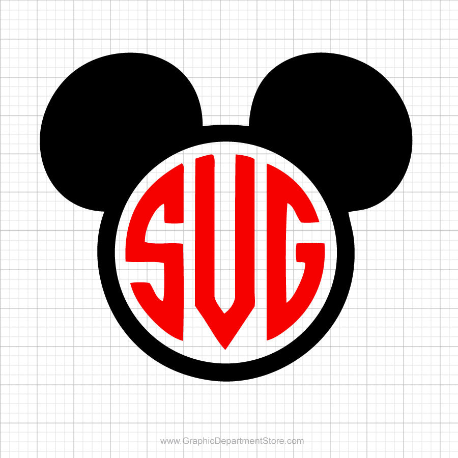 Mickey Mouse Monogram Svg Clipart