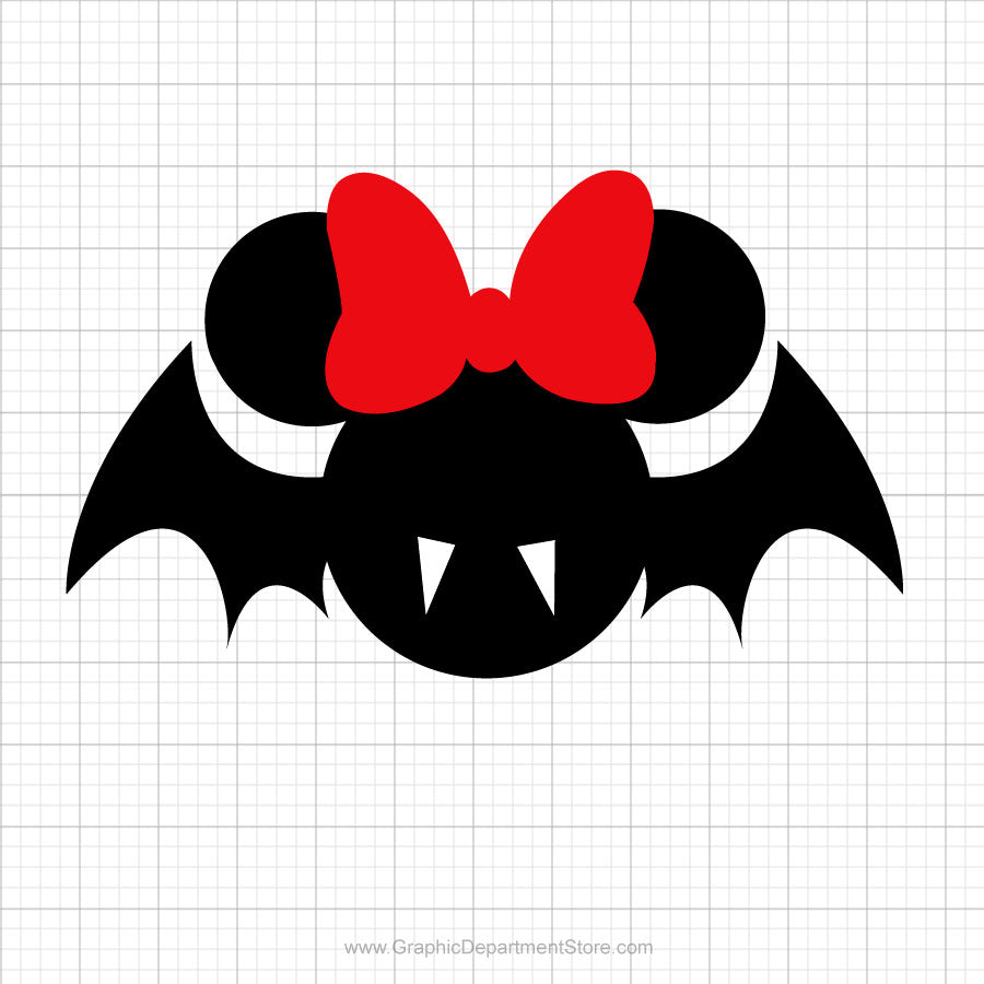 Minnie Mouse Bat Head Svg Clipart