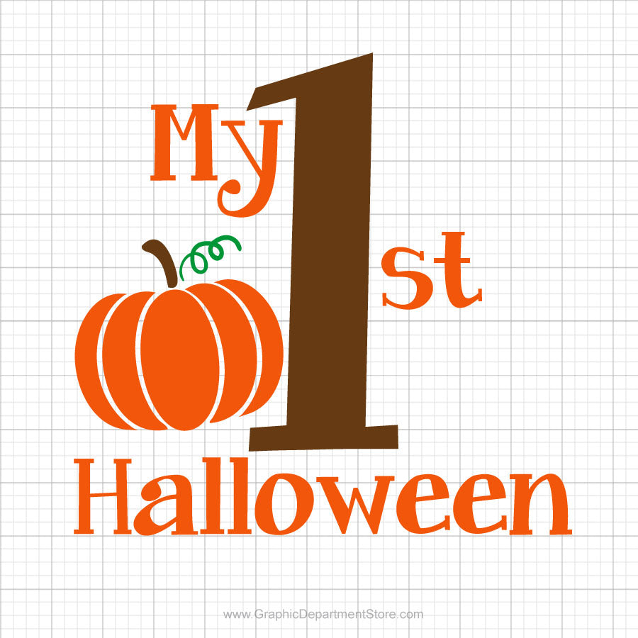 My First Halloween Svg Saying