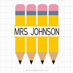 Pencil Monogram Svg Clipart