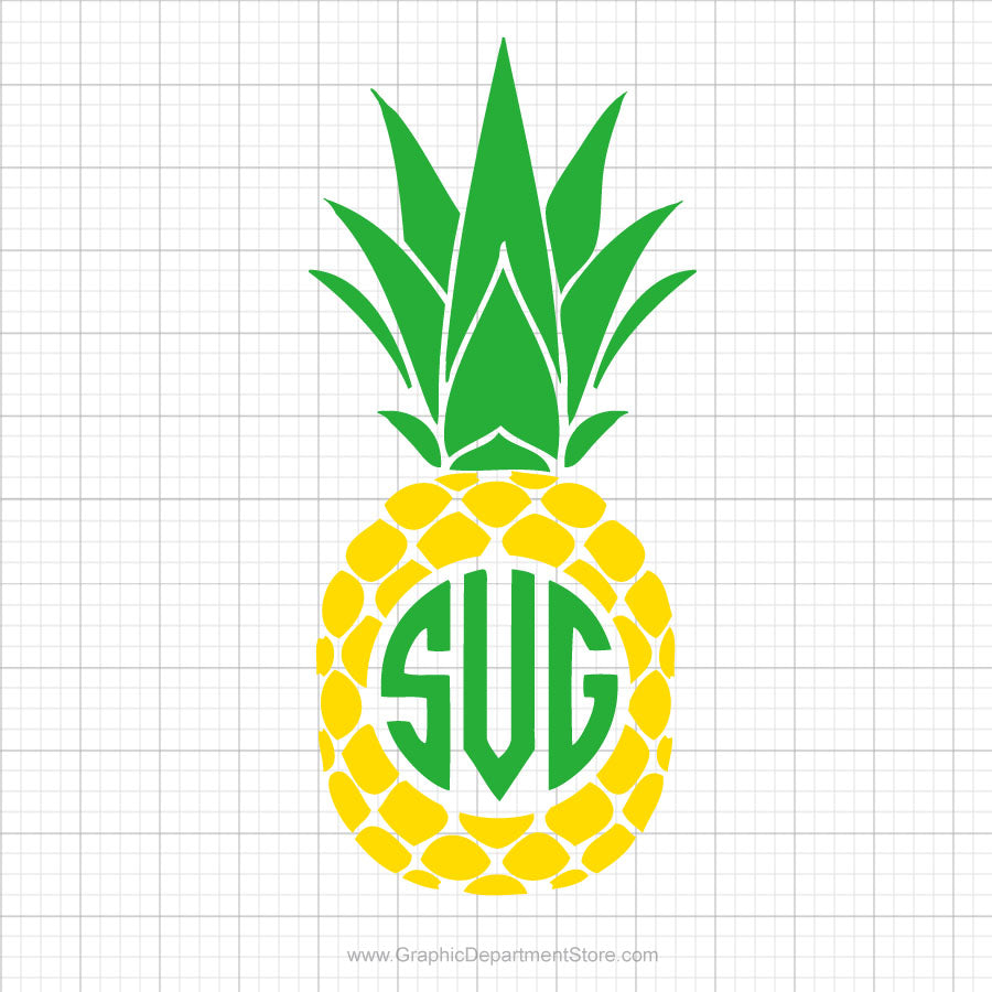 Pineapple Monogram Svg Clipart
