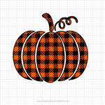 Plaid Pumpkin Svg Clipart