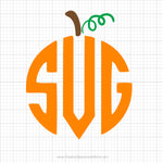 Pumpkin Monogram Svg Clipart