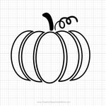 Pumpkin Outline Svg Clipart