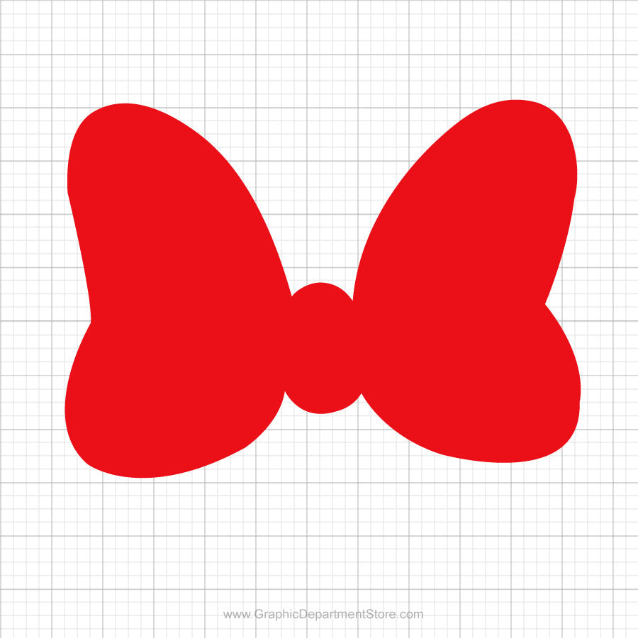 Minnie Mouse Red Bow Svg Clipart