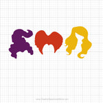 Sanderson Sisters Witches Hair Svg Clipart