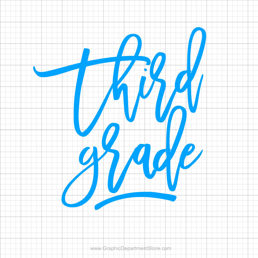 Third Grade Svg Saying