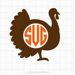 Turkey Monogram Svg Clipart
