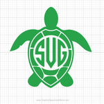 Turtle Monogram Svg Clipart