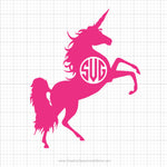 Unicorn Monogram Svg Clipart