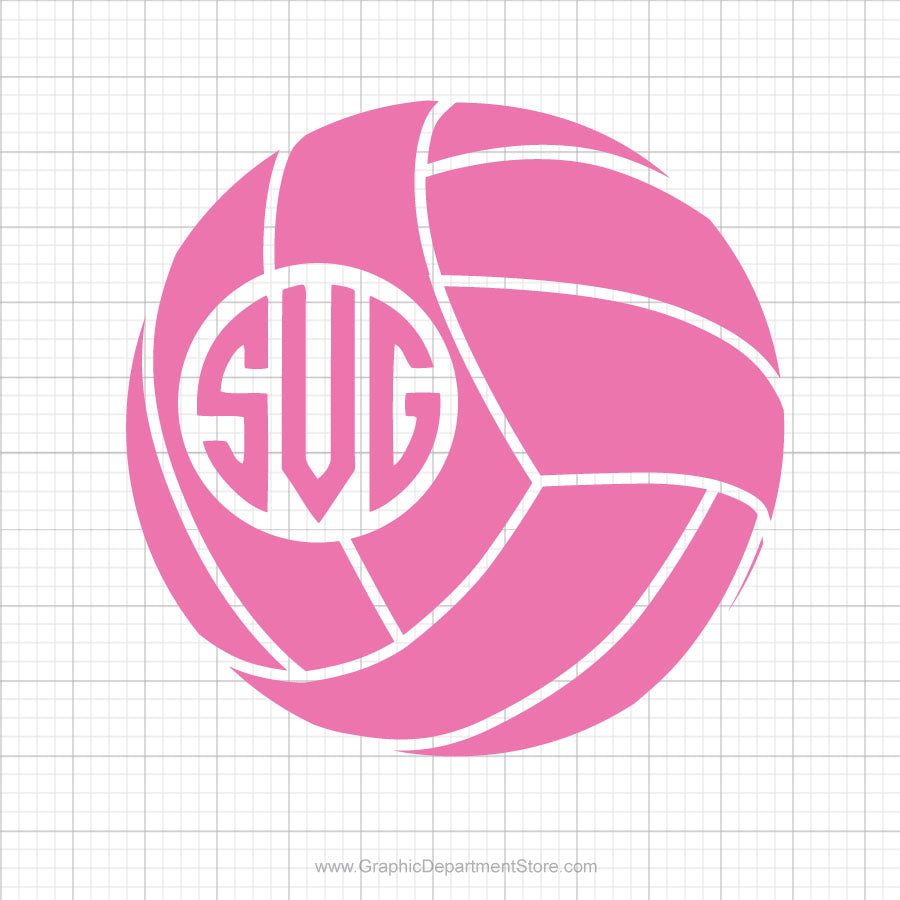 Volleyball Monogram Svg Clipart Graphic Department Store