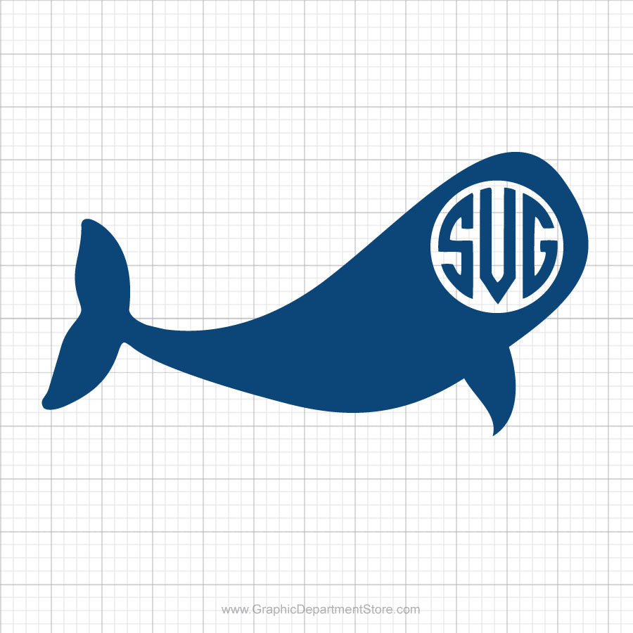 Whale Monogram Free Svg Clipart