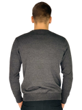 Pierre Cardin Mens New Season Essential Crew Neck Knitted Jumper - Charcoal Marl