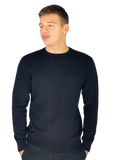Pierre Cardin Mens New Season Essential Crew Neck Knitted Jumper - Black