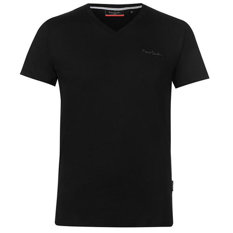 Pierre Cardin Mens New Season Essential Classic Fit V-Neck T-shirt - Black