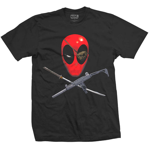 Marvel Official Licensed Deadpool Mens Printed T-Shirt - Crossbones