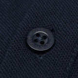 Pierre Cardin Mens Long Sleeve Classic Fit Premium Top Polo T Shirt - Navy