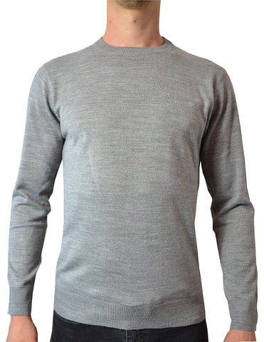 Pierre Cardin Mens New Season Essential Crew Neck Knitted Jumper - Grey Marl